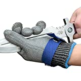 Schwer Level 9 Cut Resistant Glove Stainless Steel Mesh Metal Wire Glove Durable Rustproof Reliable Cutting Glove Latest Material