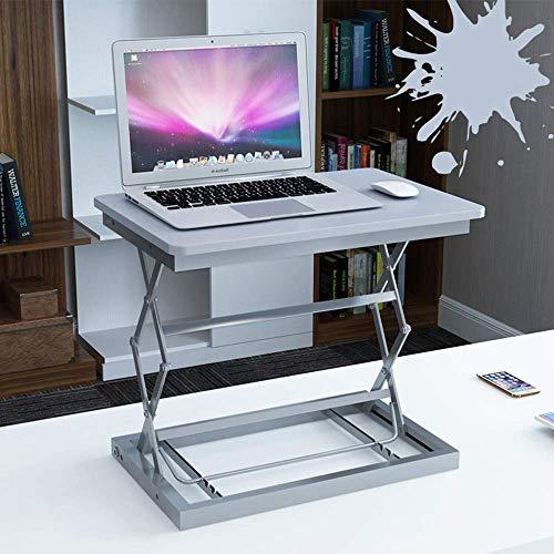 QLCY-78OI Mesa Plegable Stand-up de Ordenador Mesa elevadora de Escritorio del Escritorio del Ordenador portátil Plegable Escritorio Tabla Mobile Workbench (Color: Negro) (Color : Silver)
