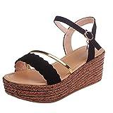 Fannyfuny_Zapatos de Verano Sandalias Mujer Sandalias de Tacón Sandalias de Vestir Sandalias Mujer Cuña Mujeres Sandalias de Punta Abierta Sandalias de Playa Banda 35-39