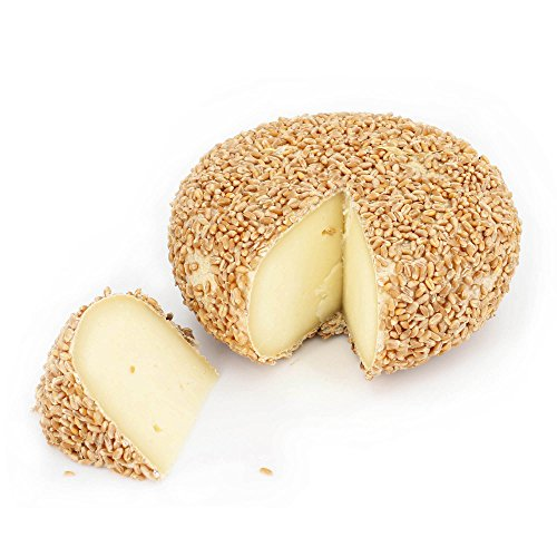 Forma de queso entero 800 gr - PECORINO TOSCANO DOP de CASENTINO - Sazonado 2 MESES en corteza de TRIGO - elaborado con Leche de OVEJA de Montaña
