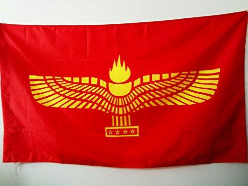 AZ FLAG Flagge ARAMÄISCHE SYRISCHE 90x60cm - SEMITISCHEN Fahne 60 x 90 cm Scheide für Mast - flaggen Top Qualität