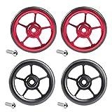 SM SunniMix Set de 4 Bike Easy Wheels Vélo Pliant Easywheel pour Roue Brompton