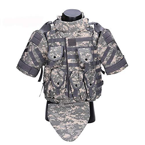 HUAJIANGHU Kampfweste Armee CS Cosplay Tactical Outerdoor Camouflage Weste Militär Kampf Taktische Weste (Color : ACU, Size : One Size)