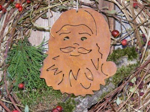 rouillé Père Noël, patine déco à suspendre