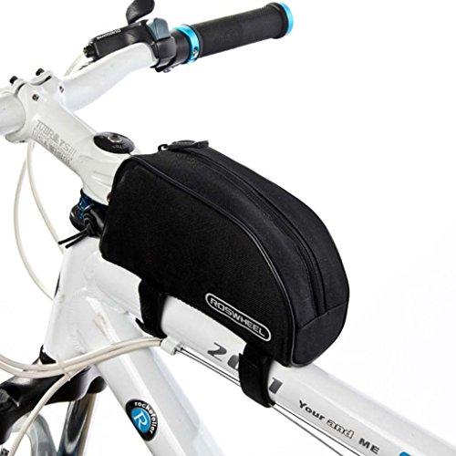 Tofern Sacoches de Cadre Vélo Sac de Rangement Spécial Haute Qualité Facile Imperméable à l'eau Noir