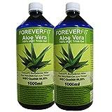 ForeverFit Aloe Vera Trinkgel 2 x 1000ml Barbadensis Miller Blattgel unverdünnt KEIN Saft KEIN Konzentrat OHNE künstliche Vitamine. Acemannan bis 1200mg/Liter. 30241