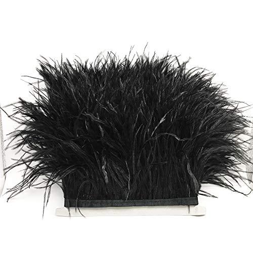 LNIMIKIY Flecos de plumas hechos a mano, accesorios de costura de raso, decoración de escenario, ropa de cinta, trajes de cinta suave DIY avestruz adornos banda