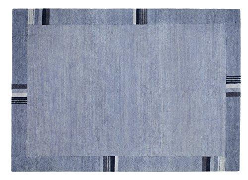 SANTA REFLECTO echter original handgeknüpfter Nepal Teppich in grau, Größe: 250x350 cm
