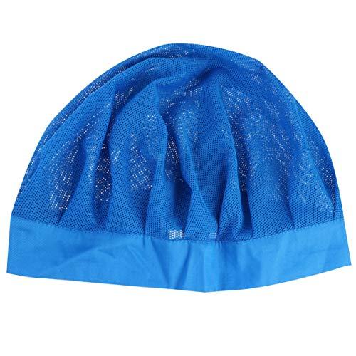 KESYOO Unisex Chef Cap Elastic Food Service Hat Kitchen Baking Cooking Mesh Cap Hair Nets for Women Men (Blue)
