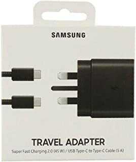 Samsung UK Travel Adaptor (45W with USB type C Cable) Black,EP-TA845XBEGGB