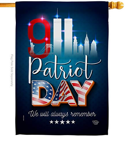 Ornament Collection Service 911 Remember Honor House Flag Armed Forces All Branches Support United State American Military Veteran Small Decorative Gift Yard Banner Made in USA 28 X 40