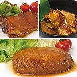 uchipac お肉セット 豚の角煮 照り焼きチキン 煮込みハンバーグ ギフト・無添加・無菌・常温保存 賞味期限 1年 各2個