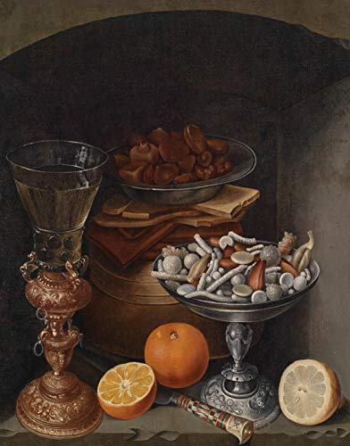 Still Life Silver Pan Oil Lamp and Bacon with Oranges and Nuts Jigsaw Puzzles Wooden Adult Toy Painting 1000 Piece