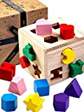 Jaques of London – 13 pcs Shape Sorter - Perfect Wooden Toys for 1 2 3 Year Olds – Quality Montessori Toddler Toys Since 1795
