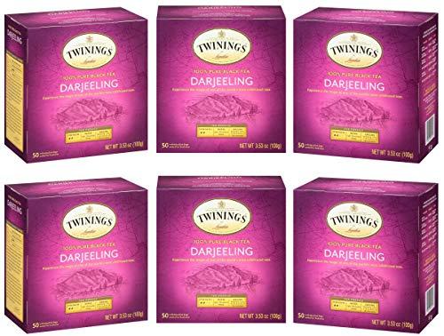 Twinings of London Darjeeling Tea Bags, 50 Count (Pack of 6) (Brand Edition)