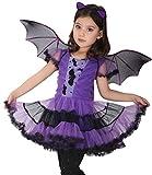 EOZY-Costume per Travestimento da pipistrello Viola Costume cosplay di Halloween Carnevale...