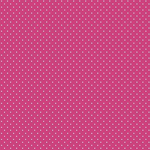 babrause® Baumwollstoff Pünktchen Pink Webware Meterware Popeline OEKOTEX 150cm breit - Ab 0,5 Meter