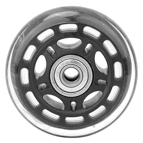 Transporte 608, rueda negra silenciosa de los accesorios del carro del equipaje de la PU para el carro del equipaje