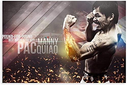 DCPPCPD Cuadro En Lienzo 30 * 50cm Sin Marco Fight Ing Manny Pacquiao Star Wallpaper Poster 20 Pinturas para el Dormitorio de la Sala de Estar
