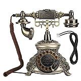 ASHATA Teléfono con Cable Retro, Resina clásica, Tocadiscos Vintage, Esfera Antigua, teléfono Europeo, Soporte telefónico clásico Vintage, remarcación