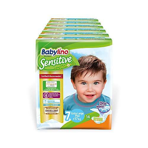 Babylino 8283 Sensitive Extra Large Plus, 84 Pannolini Taglia 7 (17+Kg)
