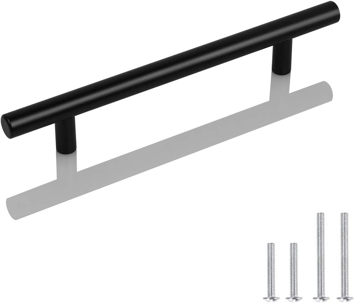 10 Pack Probrico Black Stainless Steel Kitchen Cabinet Door Handles T Bar Drawer Pulls Knobs Diameter 1//2 inch Hole Centers 2.5inch-4inch Length