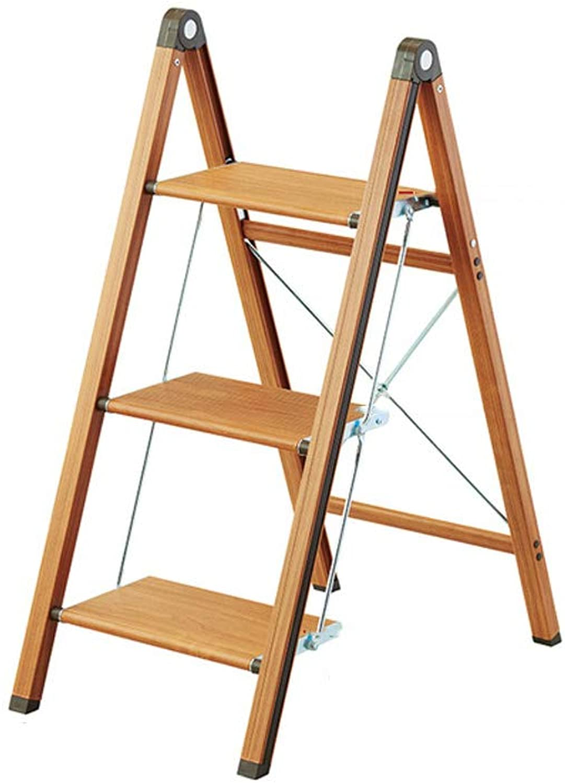 NEVY Household Narrow Type Stool Fold Step Stool Aluminum Alloy Ladder Stool Herringbone Ladder, 2 3steps (color   3 steps)