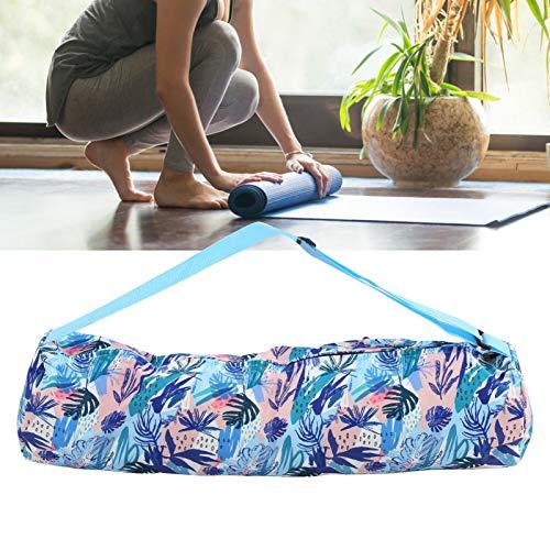 Gatuxe Bolso de Hombro de Yoga, Mochila de Yoga de Lona de impresión, para Viajes, Gimnasio de Compras, Deportes(Blue Print)