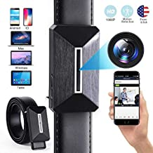 Hidden Camera Nanny Cam Wireless Hidden Spy Camera WiFi Belt Mini Spy Hidden Camera with Motion Detection 1080P Spy Video Camera Recorder with Playback-in Home or Indoor/Outdoor Use