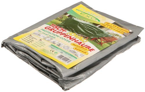 Rainexo beschermhoes hoge scheurvast voor 1 tafel ovaal, 2.40 x 1.80 x 0.90 m, zilver/grijs