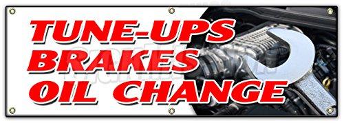 "72"" Tune UPS Brakes Oil Change Banner Sign Cars a/c Brake Muffler tire tech"