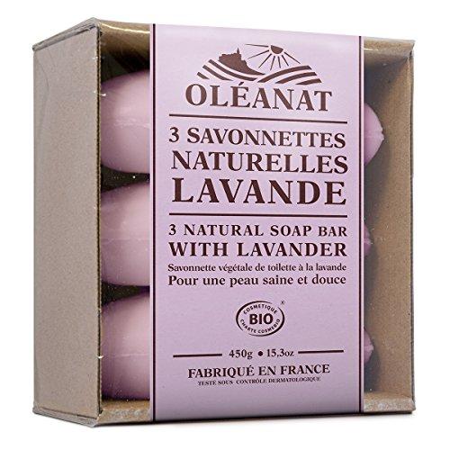 Oléanat Trio Savonnettes Lavande Bio 150 g (3 pièces)