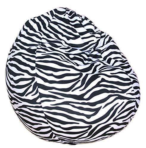 Beauty.Scouts Kinzler Sitzsack Mogli Indoor geeignet Zebra- oder Leopardoptik 100% Polyester 75x95cm Sitzmöglichkeit Sitzkissen bunt schlicht Farbe Zebra