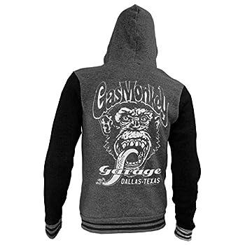 Gas Monkey Garage Officially Licensed Dallas Texas Varsity Zip Hood  D.Grey  XX-Large