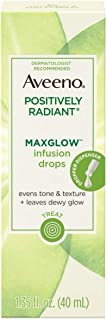 Aveeno Positively Radiant Max Glow Infusion Drops 1.35 Ounce (40ml) (2 Pack)