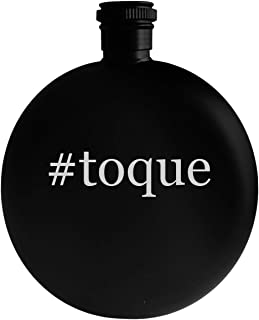 #toque - 5oz Hashtag Round Alcohol Drinking Flask, Black