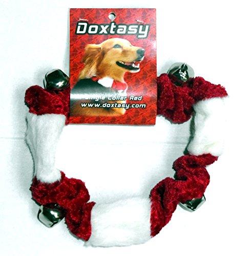 Doxtasy Weihnachtshalsband Hundeschmuck Halsband für Hunde Xmas Glöckchen (S)