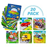 Toy To Enjoy Wooden Chunky Vehicle Jigsaw Puzzle (Pack of 20) for Kids Age 2 to 6 – Peg Puzzle Toy for Toddlers – Bright & Vibrant Colors & Shapes