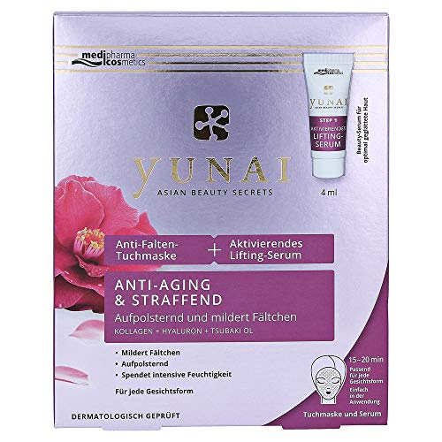 medipharma Cosmetics Yunai Anti-rimpel masker 25 g actief Lifting-Ser, 4 ml