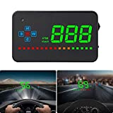 HUD GPS, iKiKin Car Head Up Display for All Cars and Trucks,Windshield LED Projector, HUD Reflection Film, GPS Speedometer, Car Head-up Display, Plug and Play