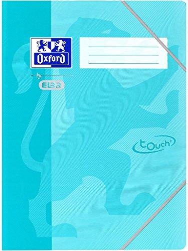 Oxford by Elba 400104028/raccoglitore ad anelli DIN A4/in der Colore Aqua in carta con Soft Touch della superficie