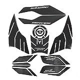 Protector para el Tanque 1 Set Motorcycle 3D Pegatinas De Fibra De Carbono Cubierta del Tanque De Combustible Pad Marty Atards 3M para Yamaha Tracer 900 GT 2018 2019 (Color : 1 Set)