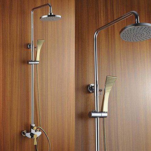 Goldene Dusche heiß und kalte Dusche Dusche festgelegt Gartendusche Kupfer Bad Armaturen-Stil , b