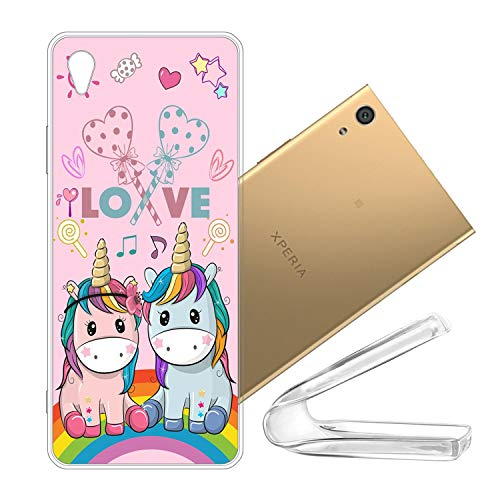 vingarshern Coque Sony Xperia XA1 Ultra Housse Cover Anti Choc Protection,Ultra Fine Bumper Case Étui Sony Xperia XA1 Ultra Coque en Silicone Souple Back Couverture,Licorne 01