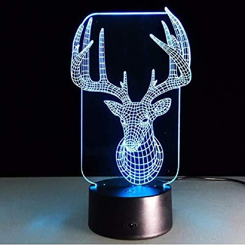 Deer slaapkamer lamp kleurrijke usb leuke 3D Office Home Decoration bureau tafellamp kind nachtverlichting kerstcadeau, kleurrijke romantische geschenken voor kinderen en vrienden