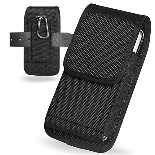 ykooe Cell Phone Pouch Nylon Holster Case with Belt Clip Cover Compatible with Samsung Galaxy S20 Plus Note 20 Ultra A21 A11 A71 S10 Lite LG Stylo 6/K51, Moto/Google Other Smartphone