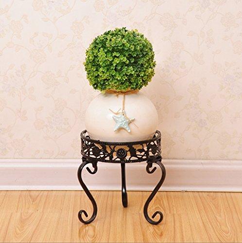 Support en bois en métal Etagères en plein air et en plein air Balcon Salon Étagère en pot de fleur (Couleur : Noir, taille : 20 * 20CM)