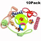WRMR Dog Pet Puppy Chew Cotton Rope Ball Braided Knot Toy Durable Braided Bone Rope Funny Toy Tooth Grinding & Training Pet Toy Supplies (10 Set)