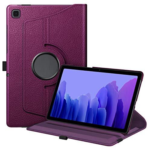 FINTIE Rotating Custodia per Samsung Galaxy Tab A7 10.4'' Pollici 2021 SM-T500/505/507-360 Gradi di Rotazione Girevole Case Protettiva con Auto Svegliati/Sonno, Viola