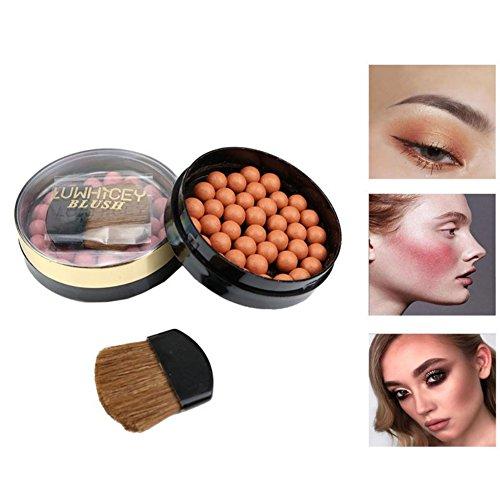 Allbesta Glow Bronzing Pearls Bronzed Ball Blusher Rouge Contouring Palette Wasserfest Langlebige...